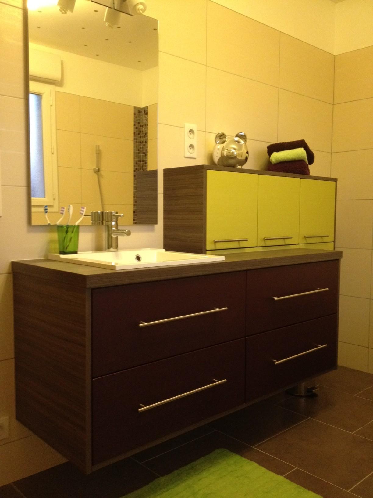 Salle de bain design vert anis - Creer une salle de bain en 3d gratuit ...
