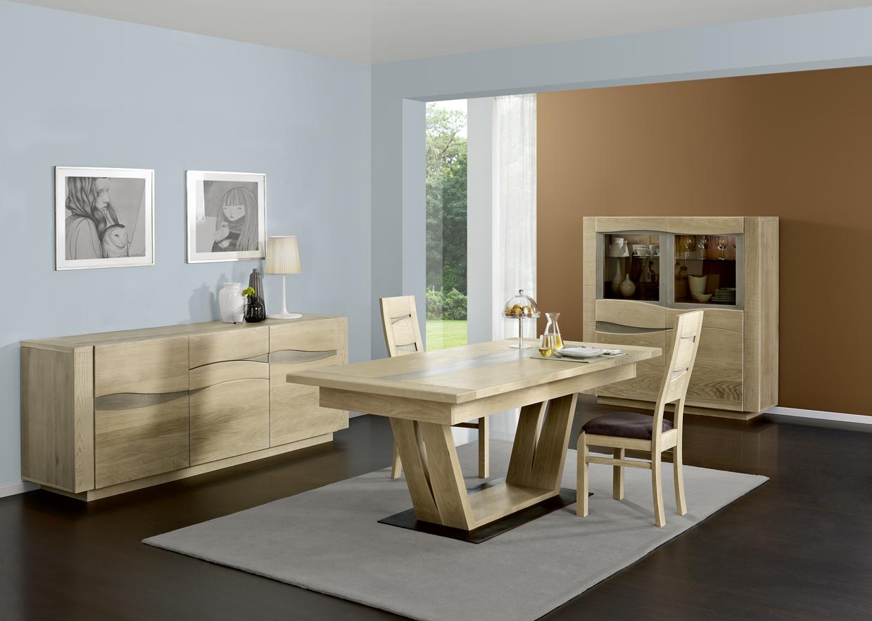 #664C2D Nouveau Séjour Boréale De Chez Cacio 3555 salle a manger en chene massif 1239x883 px @ aertt.com