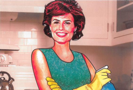 Image d'une femme style année 50 avec des gants