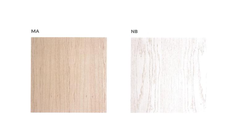 Teinte du bois Mistral ou blanc pour la salle à manger Rialto