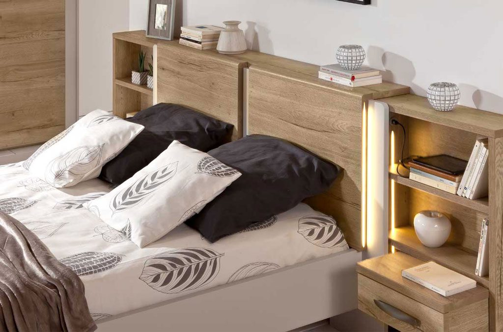 photo d'illustration du lit calypso et de ces deux blocs étagères